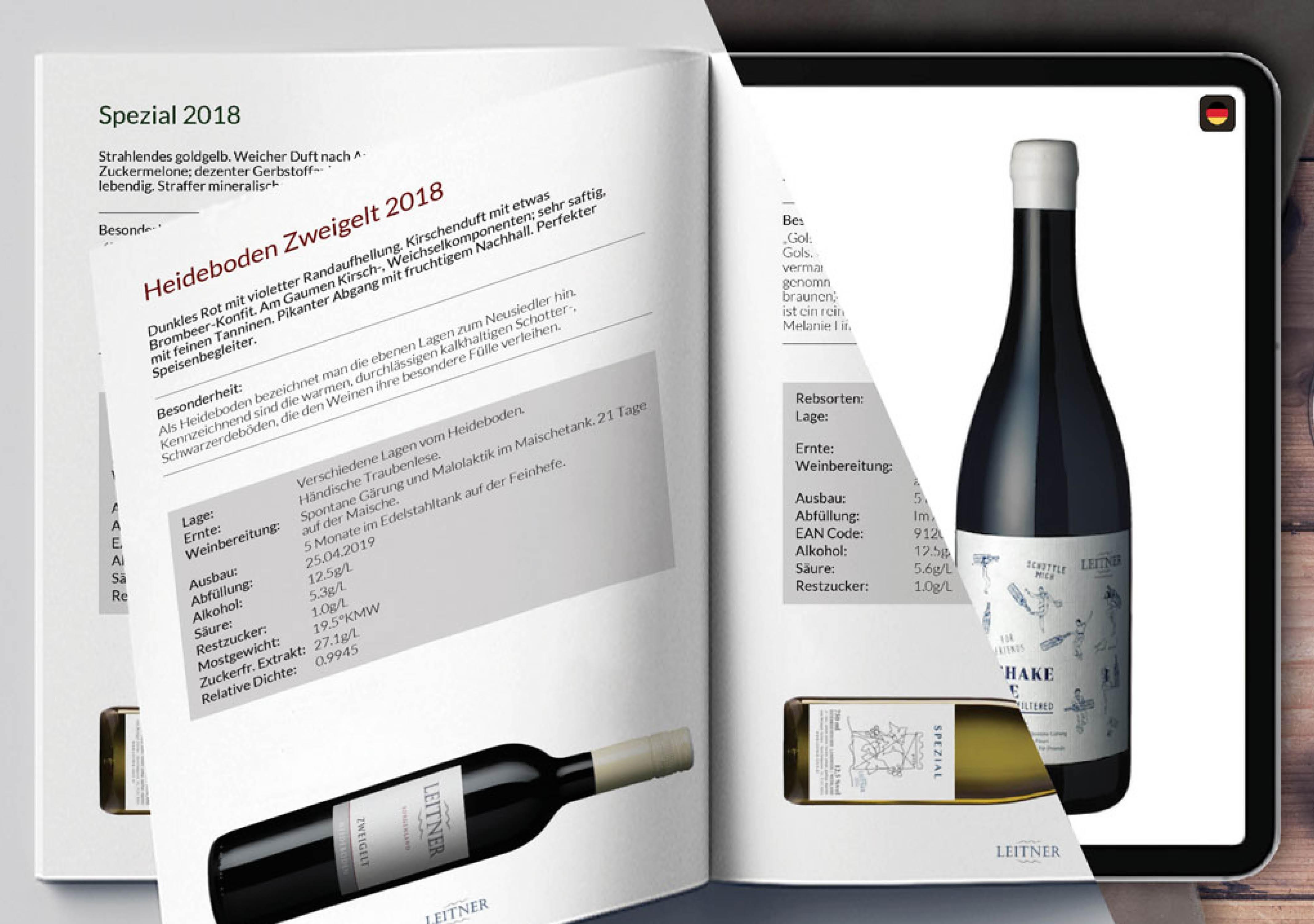 winePad im Weingut